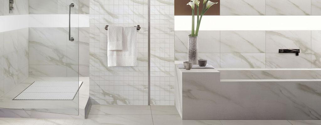 Salle De Bain Beige Blanc : Céramique mosaïque porcelaine et tuiles planchers
